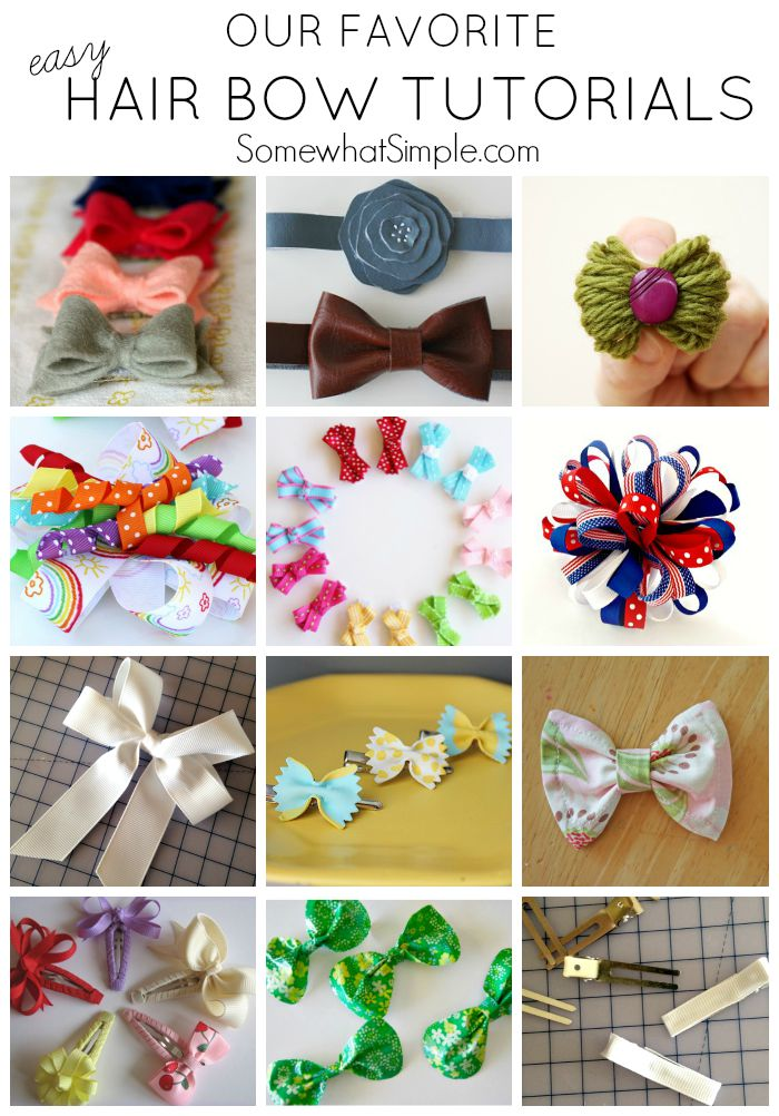 12 of our favorite Easy Hair Bow Tutorials