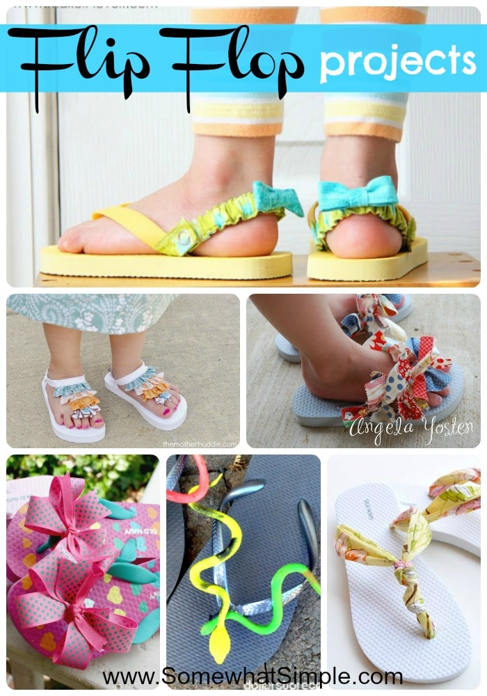 If you want to dress up your flip flops just a bit to make your feet fancier, this post is for you! Please enjoy these 15 creative flip flop ideas via @somewhatsimple