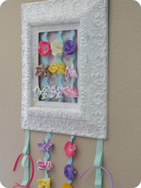 framed bow holder tutorial