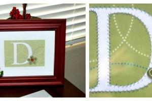 framed paper monogram