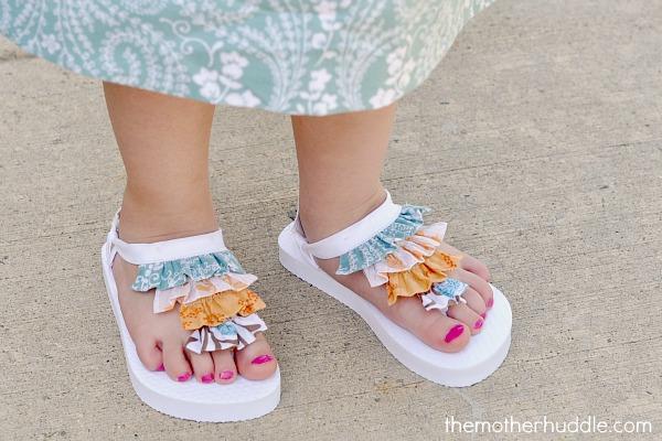 ruffle flip flops