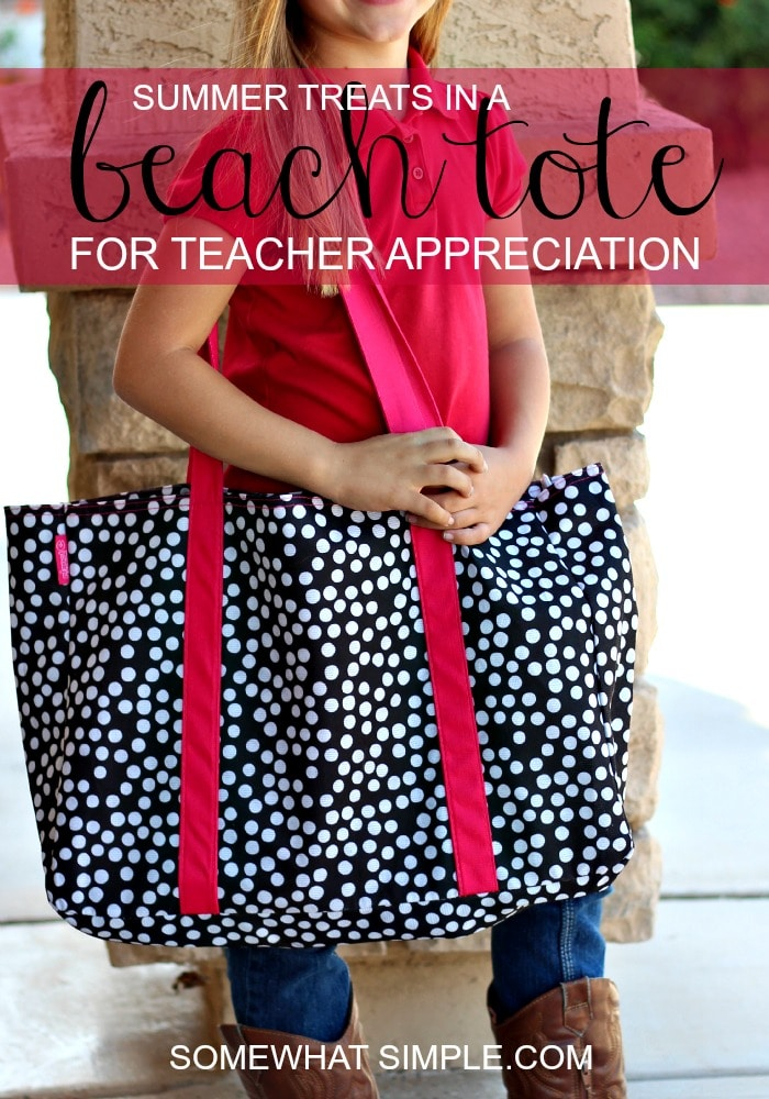 beach bag teachers gift