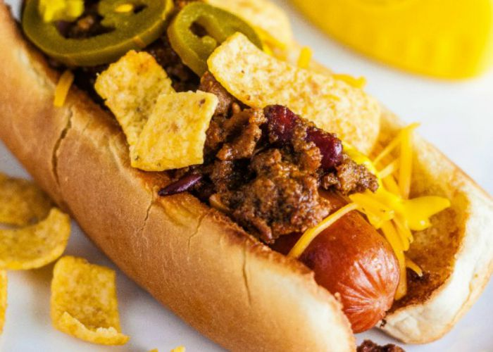 9 Texas Chili Dogs