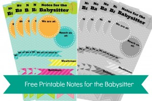 notes for the babysitter 1