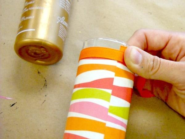 6 Measure the ribbon