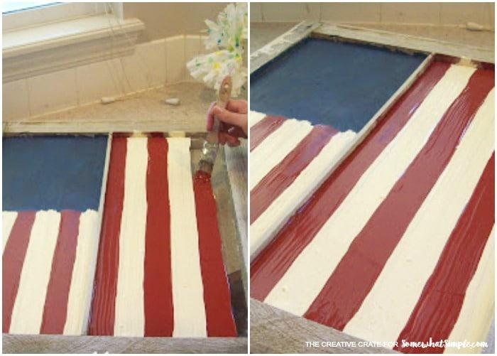 vintage painted window flag 2