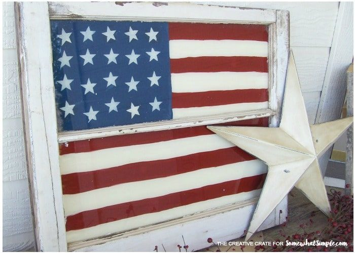 Vintage Painted Window Flag