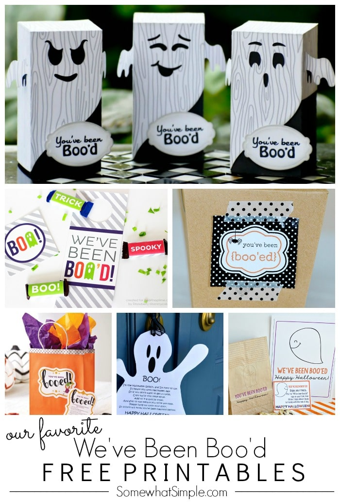 Free Printables We've Been Boo'd