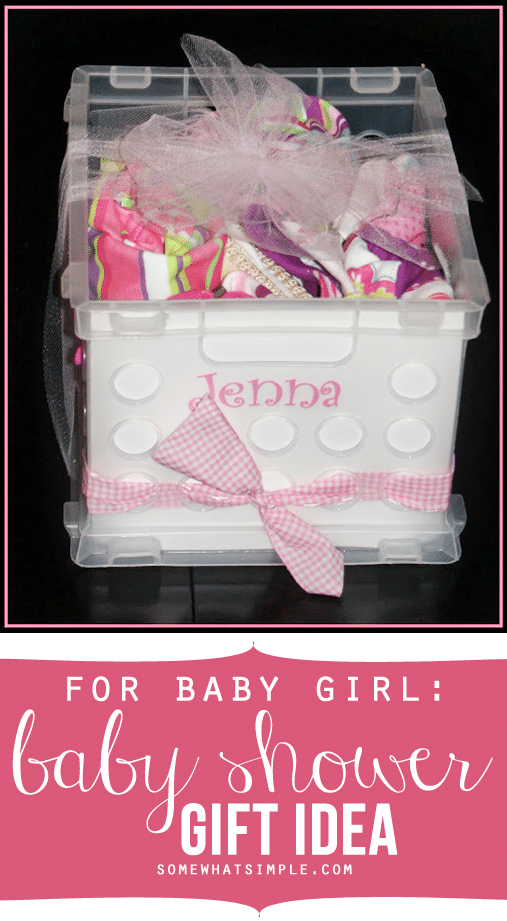 girly baby shower gift somewhat simple