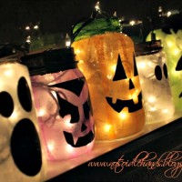 glowing halloween jars 2