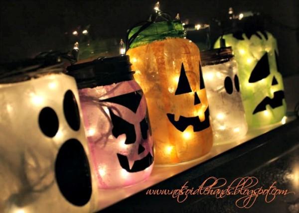 glowing halloween jars 2