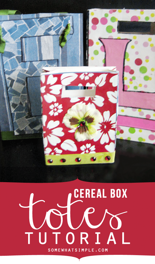 cereal box totes