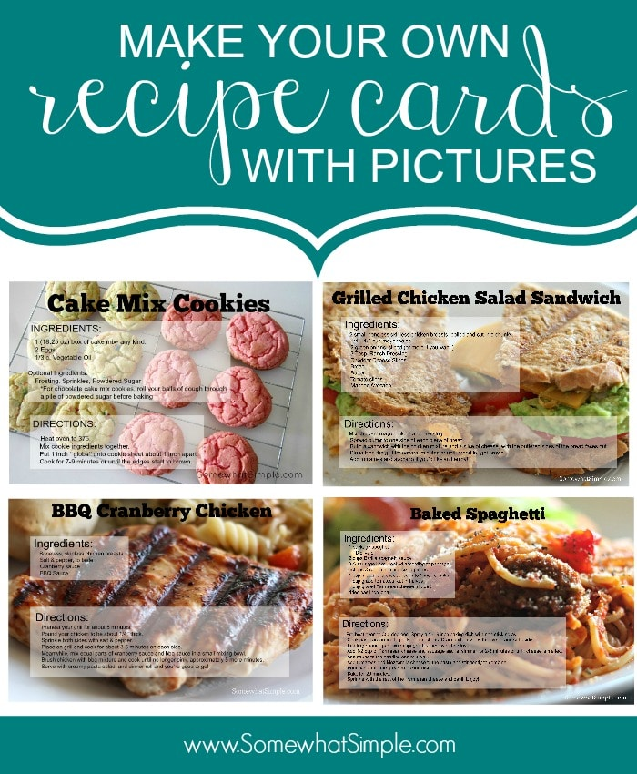 Cute recipe cards with pictures somewhat simple recipe cards forumfinder Choice Image