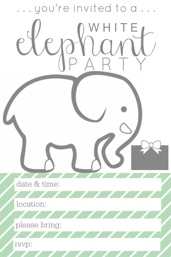 white-elephant-party-invite