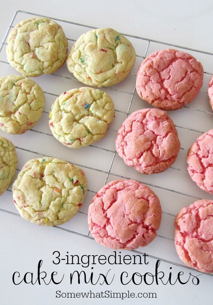 How To Make Strawberry Cake Mix Cookies