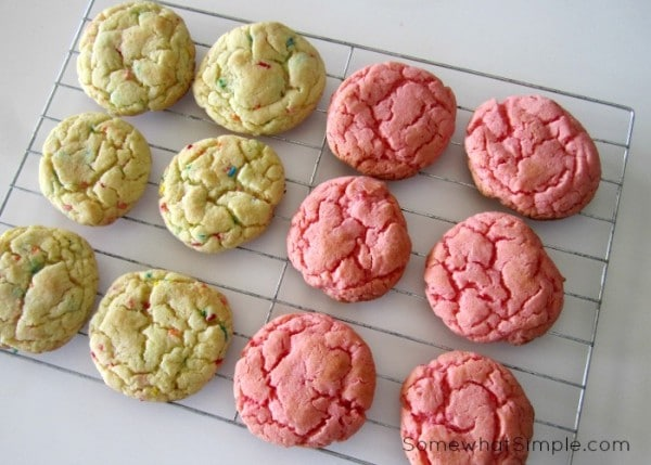 3 Ingredient Cake Mix Cookies