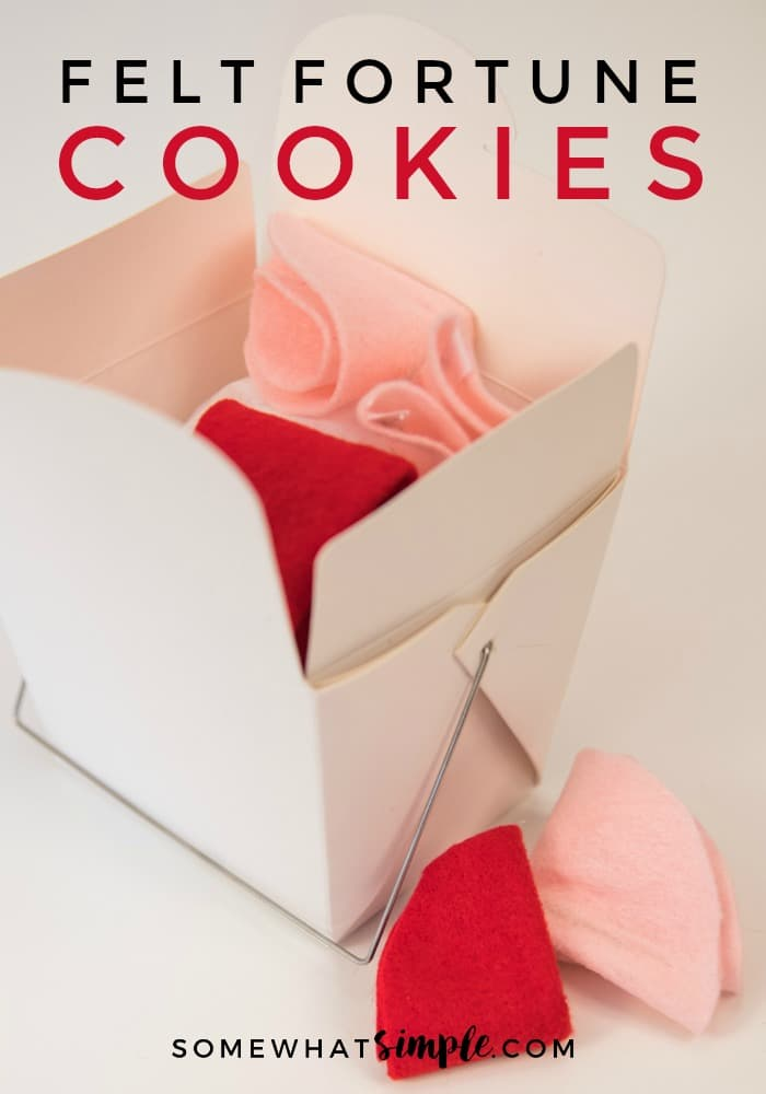 "Fill these felt fortune cookies with special ""love coupons"" for your sweetheart, or fun activities for the kids! via @somewhatsimple"