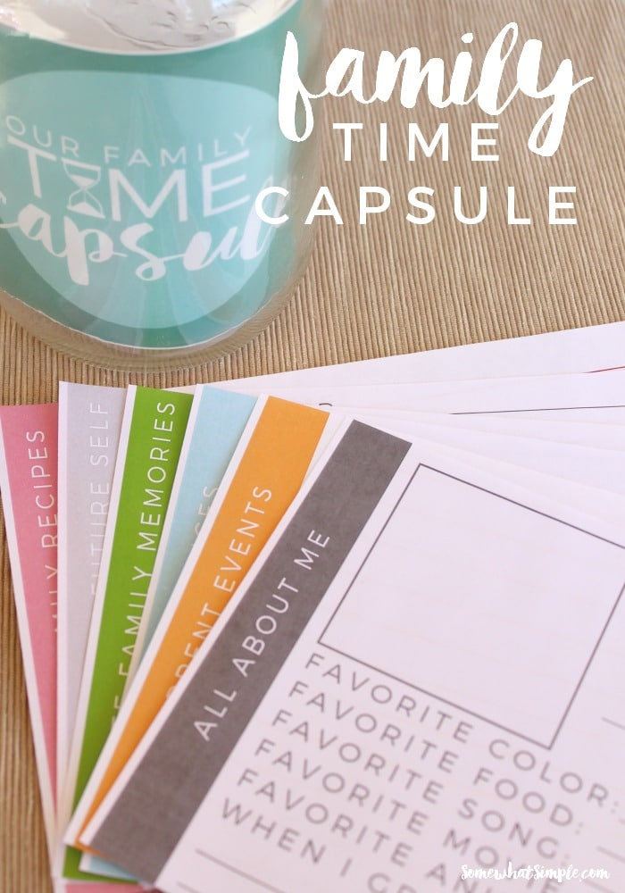 image regarding Time Capsule Printable named Spouse and children Period Capsule - Printable - Rather Very simple