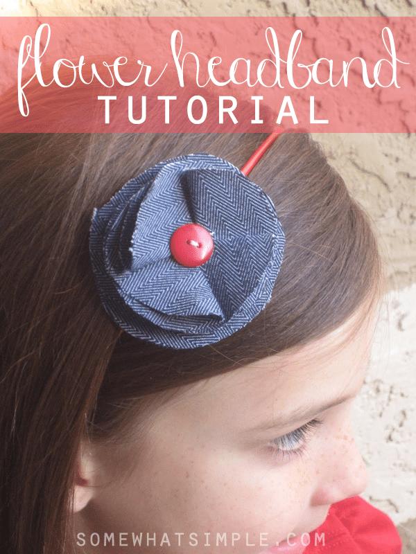 Easy fabric flower on a headband