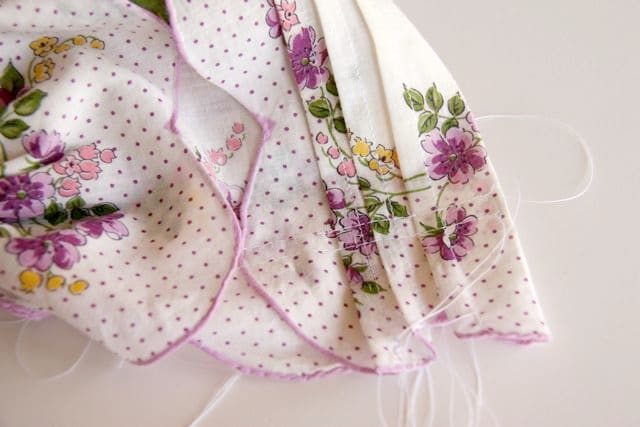 Handkerchief Baby Bonnet Tutorial 10