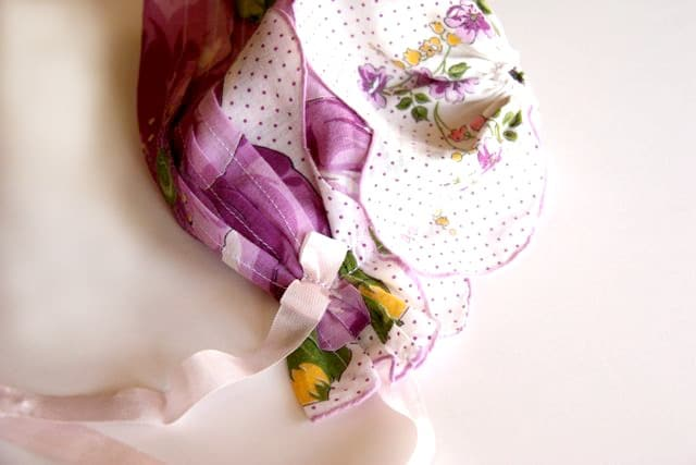 Handkerchief Baby Bonnet Tutorial 13