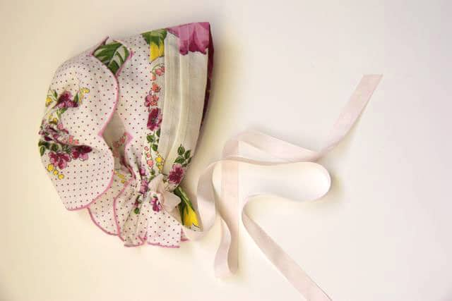 Handkerchief Baby Bonnet Tutorial 14