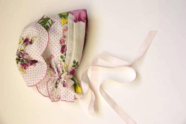 Handkerchief Baby Bonnet Tutorial 14