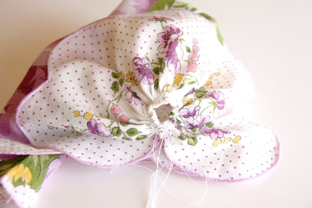 Handkerchief Baby Bonnet Tutorial 8