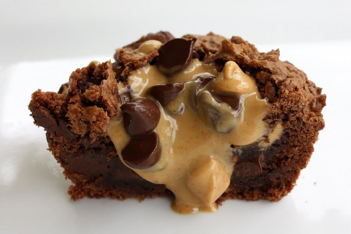 Brownie Peanut Butter Cups - Somewhat Simple