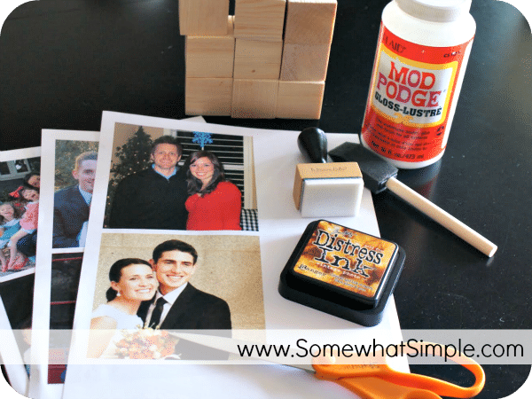 Mother's Day Gift- How to Make a Block Puzzle with Photos - Somewhat