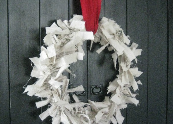 canvas drop cloth wreath 3