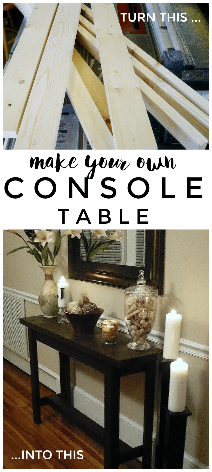 Diy Console Table Somewhat Simple