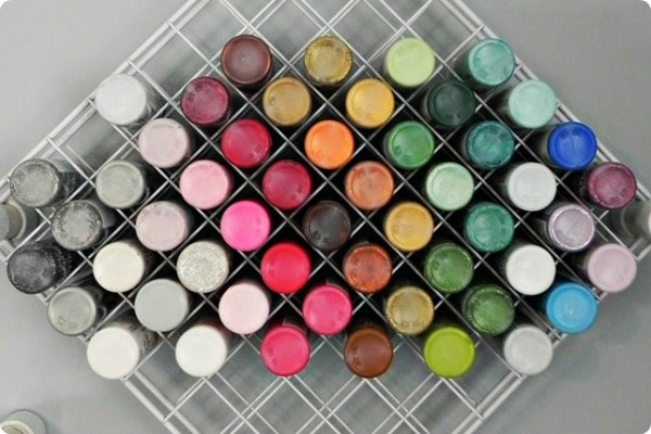 how to organize paint