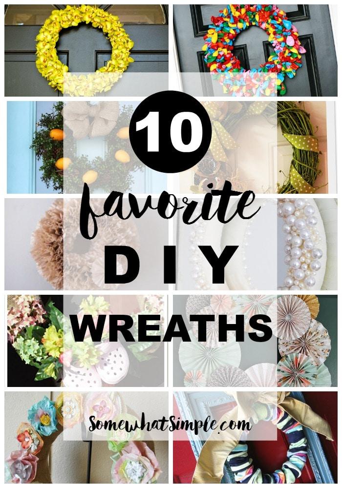 10 Favorite DIY Wreaths on SomewhatSimple
