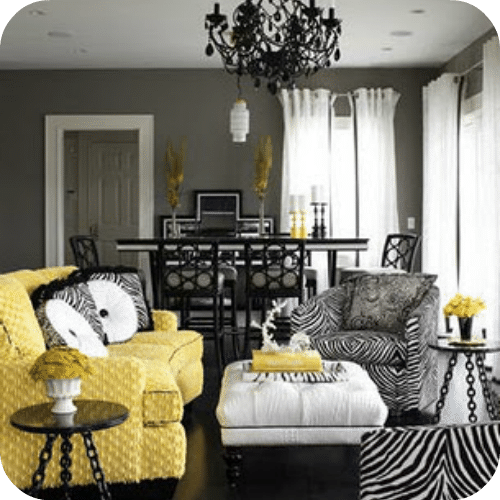 Decorating with yellow and gray - Black and yellow bedroom decor ...