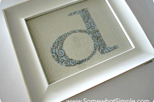 framed fabric monogram 4