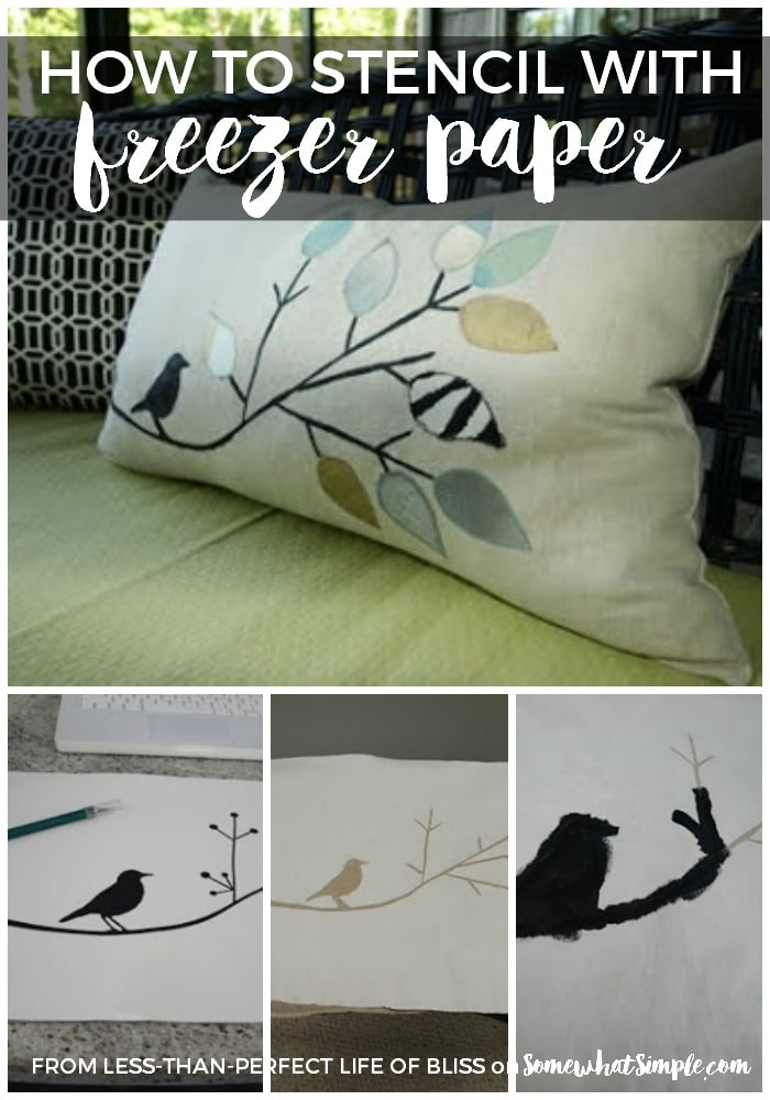 how to stencil with freezer paper
