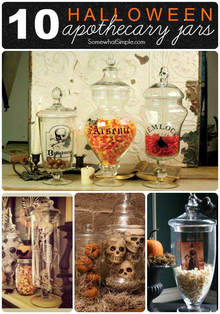 10 Ideas for Halloween Apothecary Jars