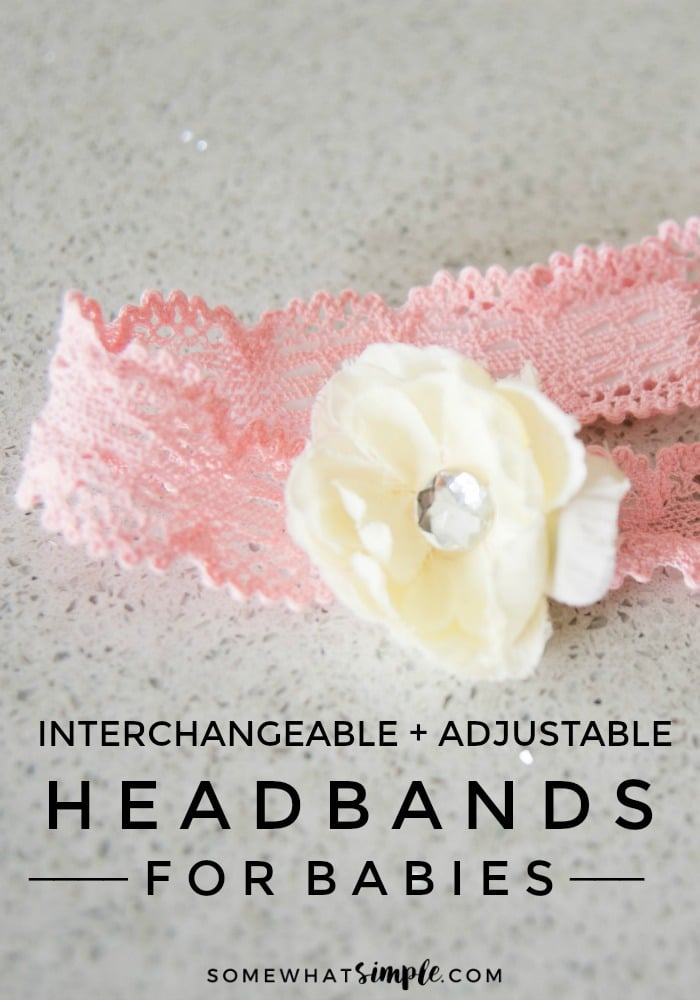 These darling headbands for babies are made to grow with your daughter AND match every outfit in her wardrobe! via @somewhatsimple