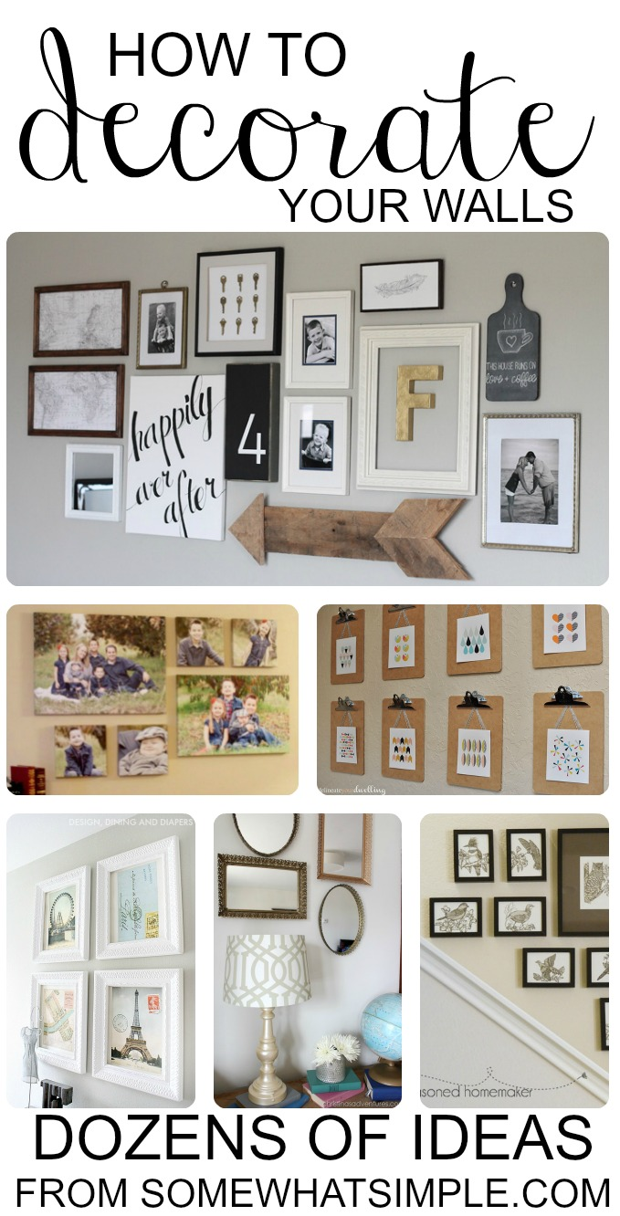 Diy wall hangings dozens of great ideas for decorating your walls Ideas to decorate your house