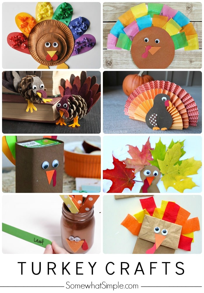 Easy Turkey Crafts for Kids - Somewhat Simple
