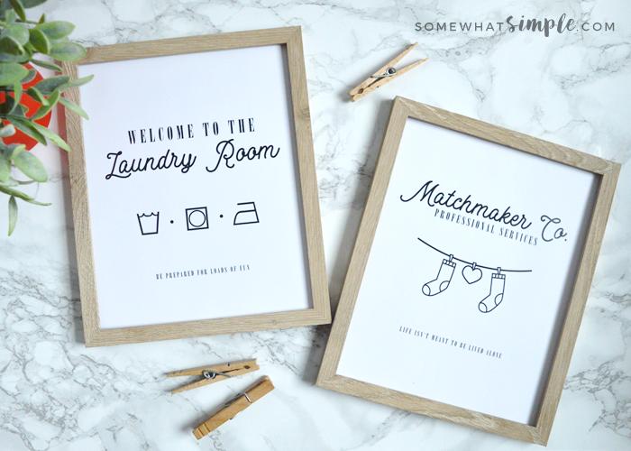 Lost Socks + Laundry Room Signs