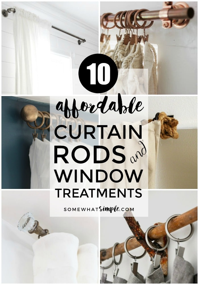 10 Affordable Curtain Rods and Window Treatments