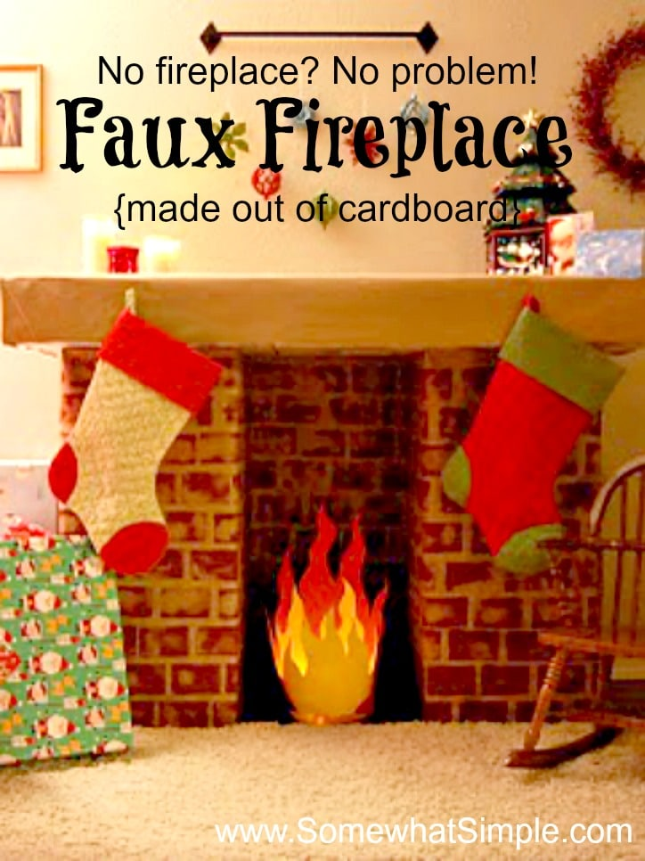 Faux Fireplace How To Make A Fake Fireplace With Cardboard