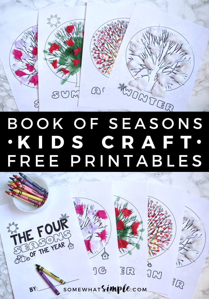 This free printable Book of Seasons is the perfect project to help teach little ones about the 4 seasons!