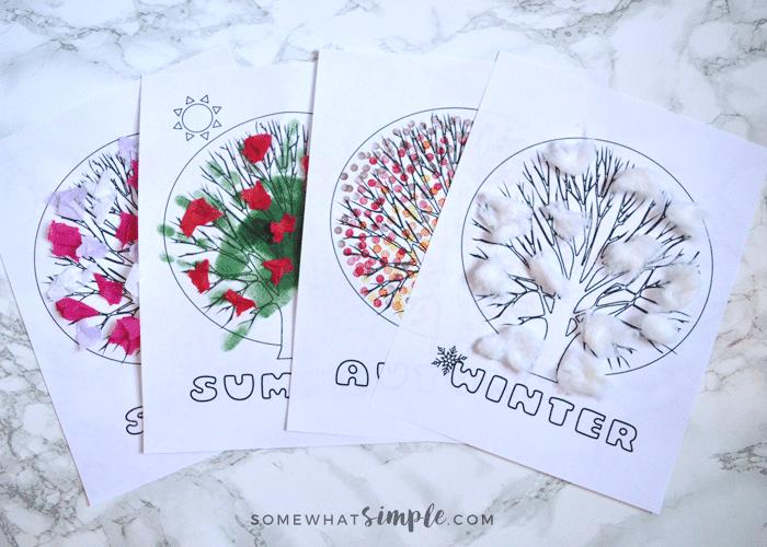 Four Seasons – Free Printable Craft For Kids