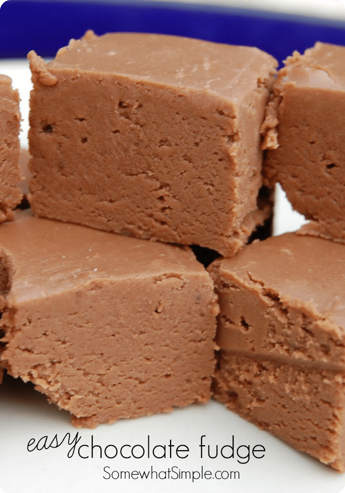 Easy Fudge Recipe - Somewhat Simple