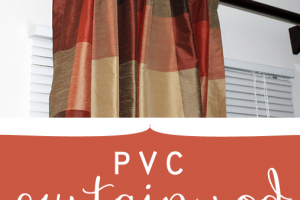 pvc curtain rod