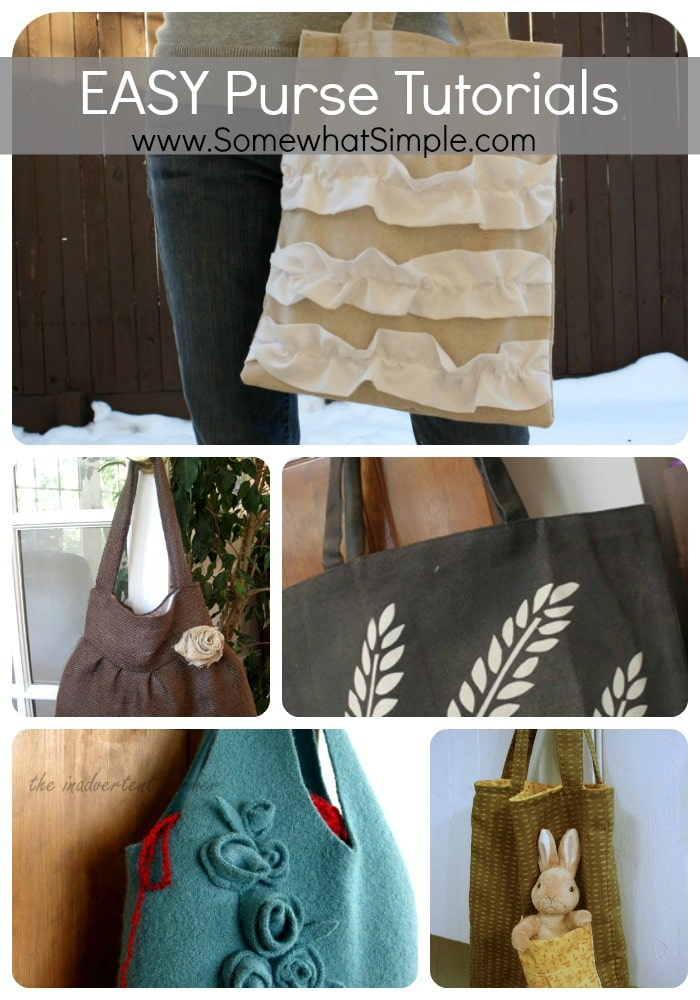Its in the bag! 5 EASY Ways to Make Your Own Purse ...