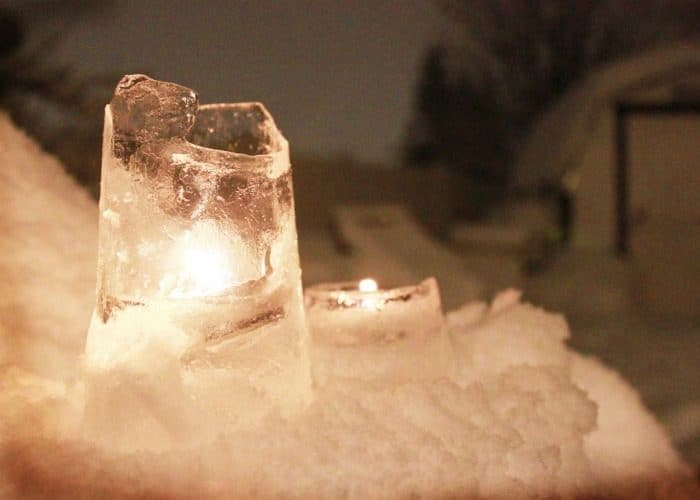 How to Make Ice Candles – Easy Winter Decorations